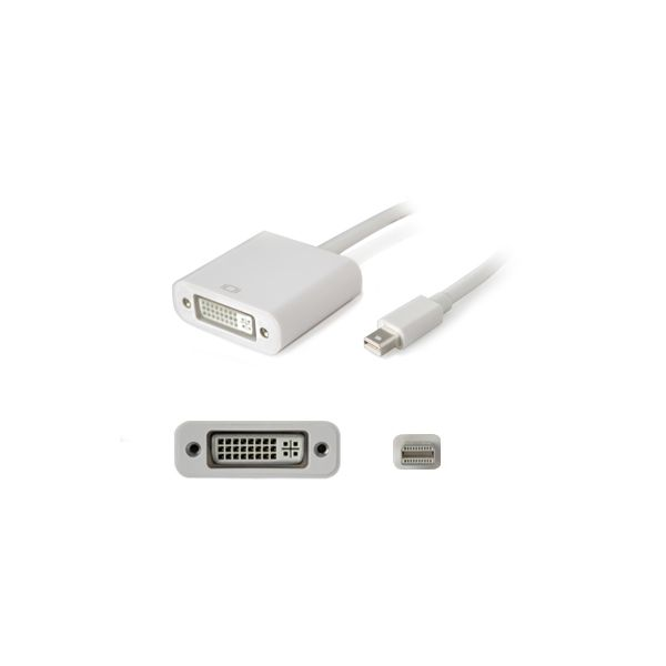 AddOn 20.00cm (8.00in) Mini-DisplayPort Male to DVI-I (29 pin) Female White Adapter Cable
