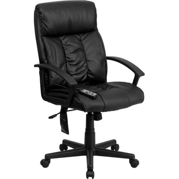Flash Furniture High Back Massaging Leather Executive Office Chair