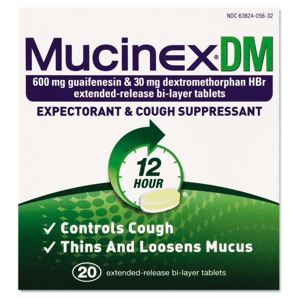 Mucinex DM Expectorant & Cough Suppressant Tablets