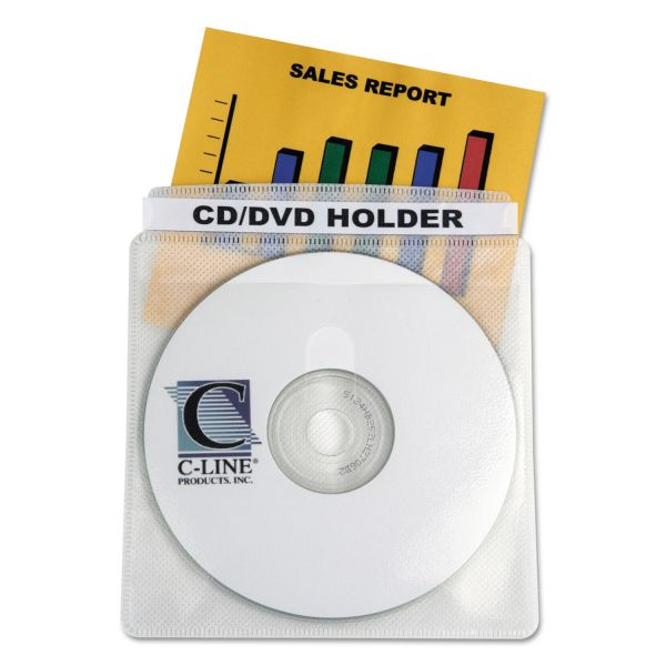 C-Line Two-Sided Deluxe Individual Disc Sleeves for Standard Storage Cases, 50 per Box