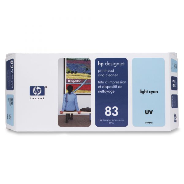 HP 83 UV Light Cyan Printhead & Cleaner (C4964A)