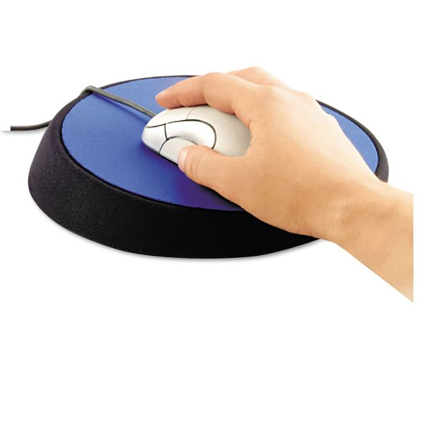 "Allsop Wrist Aid Ergonomic Circular Mouse Pad, 9"" dia., Cobalt"