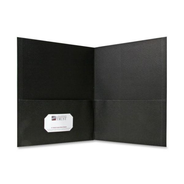 Sparco Black Two Pocket Folders