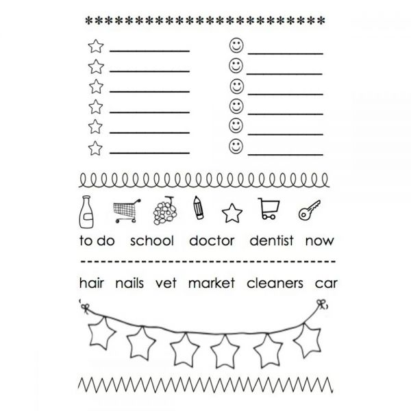 "SRM Planner Clear Stamps 4""X6"""