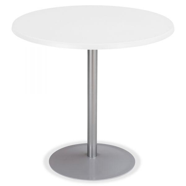 """Safco Entourage Table Base, 18"""" Dia. x 29h, Silver"""