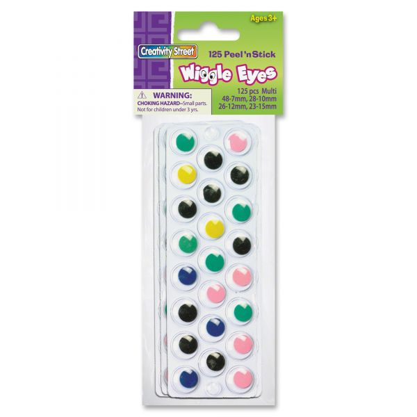 Creativity Street Peel 'N Stick Wiggle Eyes Assortment Pack