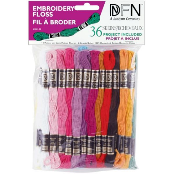 Cotton Embroidery Floss Pack