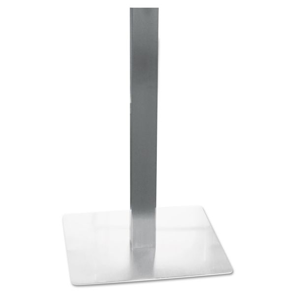 Mayline Hospitality Table Steel Square Tube Pedestal Base, 19-3/4 x 19-3/4 x 28, Silver