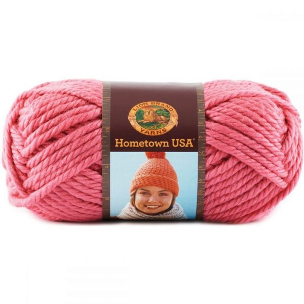 Lion Brand Hometown USA Yarn - Honolulu Pink