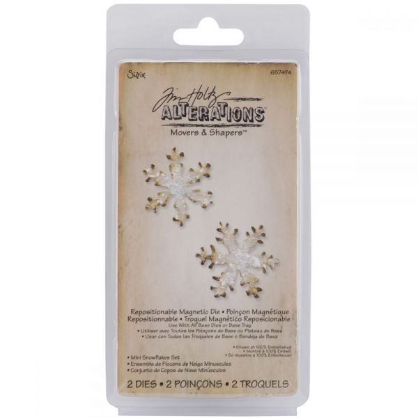 Sizzix Movers & Shapers Magnetic Dies By Tim Holtz 2/Pkg