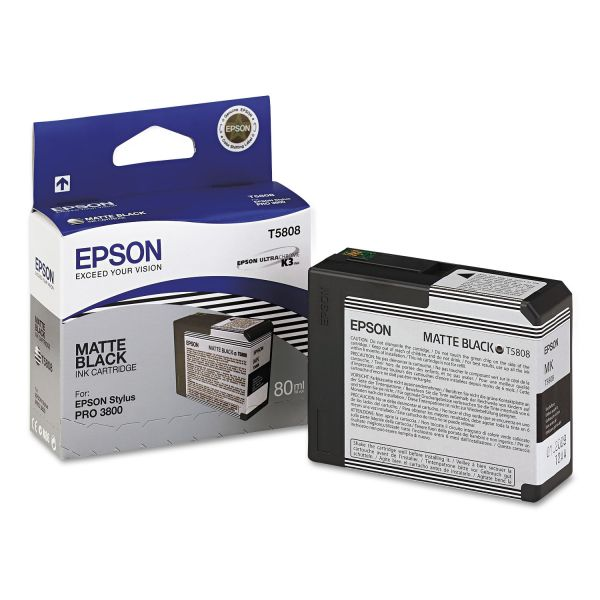 Epson T5808 Matte Black Ink Cartridge