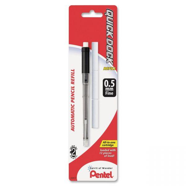 Pentel .5MM Quick Dock Mech Pencil Lead Refills