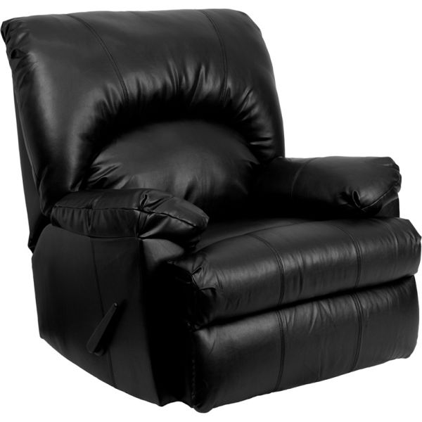 Flash Furniture Contemporary Apache Black Leather Rocker Recliner