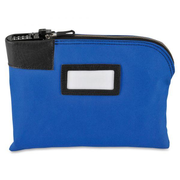 MMF Industries Classic Combination Deposit Bag, 11 x 1 x 8 1/2, Durablock, Blue