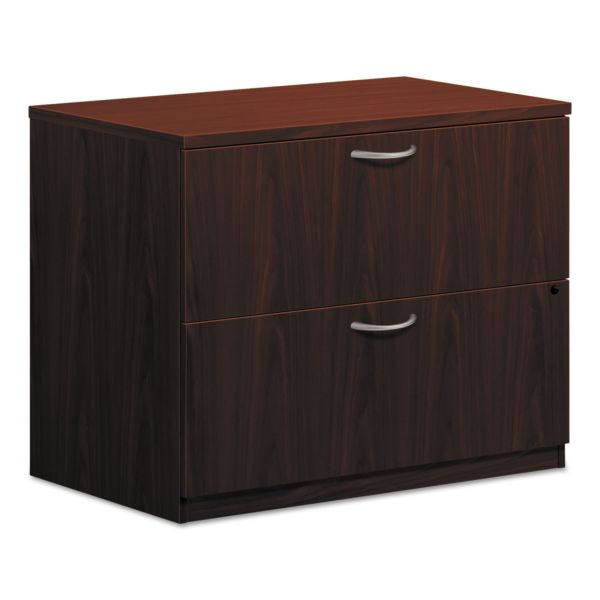 HON BL Laminate Two Drawer Lateral File, 35 1/2w x 22d x 29h, Mahogany