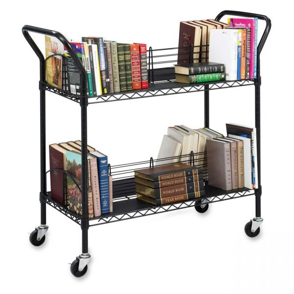 Safco Double-Sided Wire Book Cart