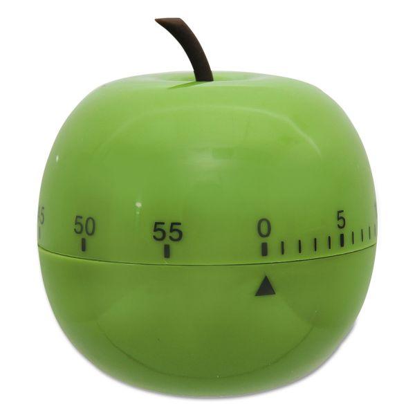 "Baumgartens Shaped Timer, 4 1/2"" dia., Green Apple"