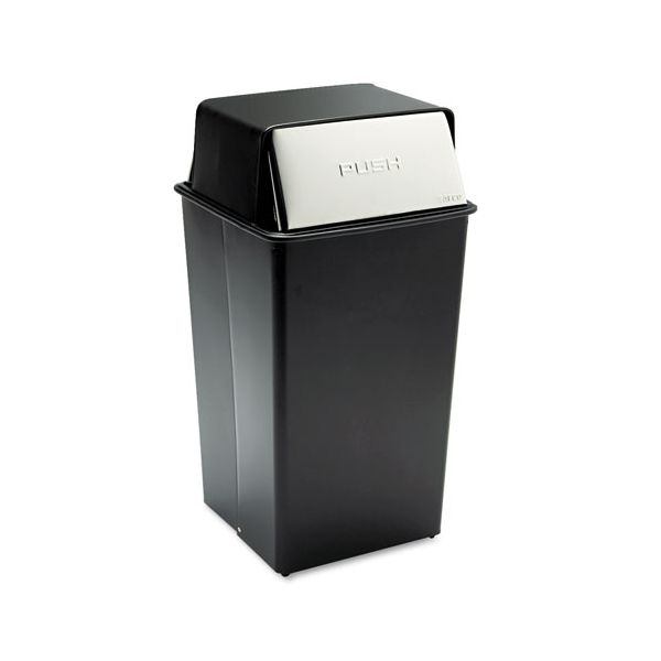 Safco Reflections Push Top 36 Gallon Trash Can