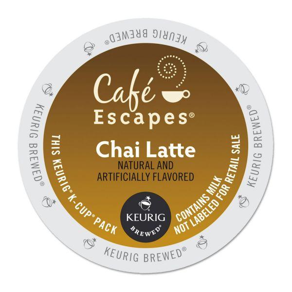 Café Escapes Chai Latte Tea K-Cups