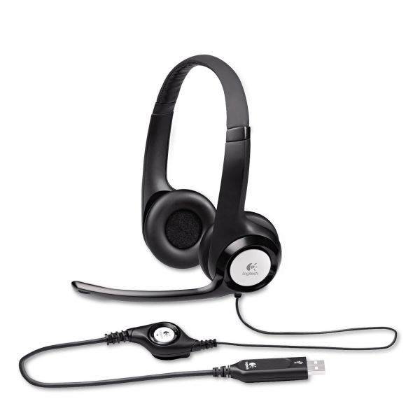 Logitech H390 USB Headset w/Noise-Canceling Microphone