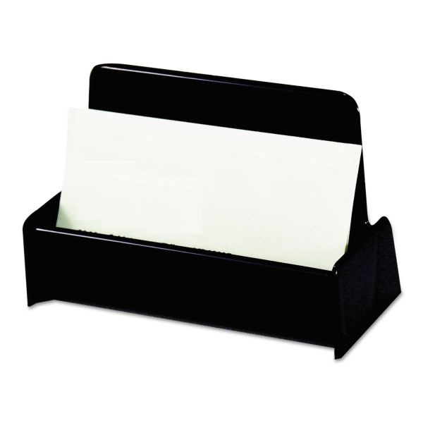 Universal Business Card Holder, Capacity 50 2-1/4 x 4 Cards, Black