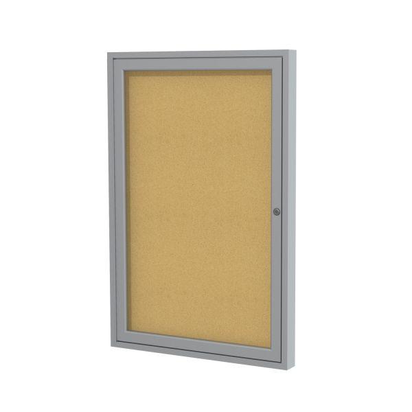 Ghent 1-Door Enclosed Indoor Bulletin Board
