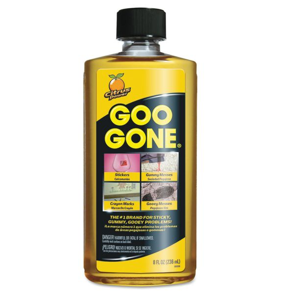 Goo Gone Original Cleaner, Citrus Scent, 8 oz Bottle, 12/Carton