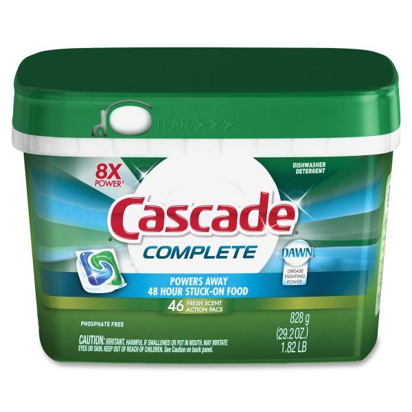 Cascade Complete Dishswasher Soap ActionPacs