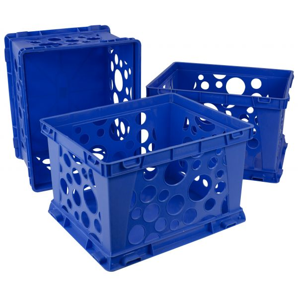 Storex Storex Large Storage and Transport File Crate (Case of 3)