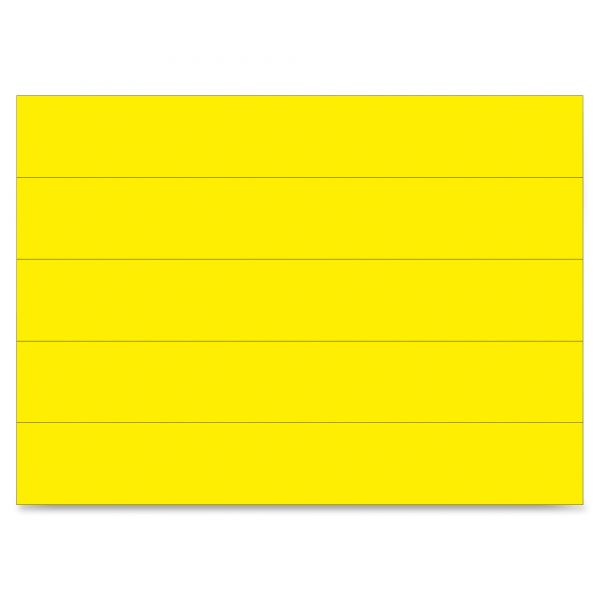 """MasterVision Dry Erase Magnetic Tape Strips, Yellow, 6"""" x 7/8"""", 25/Pack"""