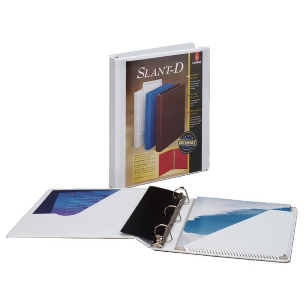 """Cardinal SuperStrength ClearVue 1/2"""" 3-Ring View Binder"""