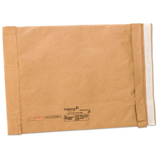 Sealed Air Jiffy Padded Self Seal Mailer, #5, 10 1/2 x 16, Natural Kraft, 25/CT