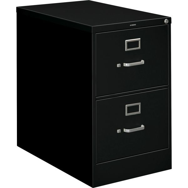 HON 210 Series Two-Drawer, Full-Suspension File, Legal, 28-1/2d, Black