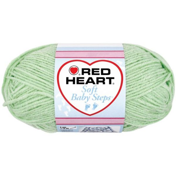Red Heart Soft Baby Steps Yarn - Baby Green