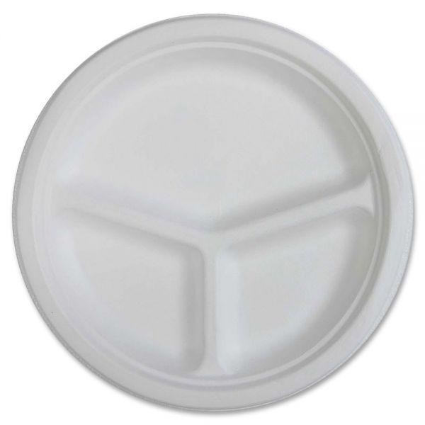 "Genuine Joe 10"" Disposable Compartment Plates"