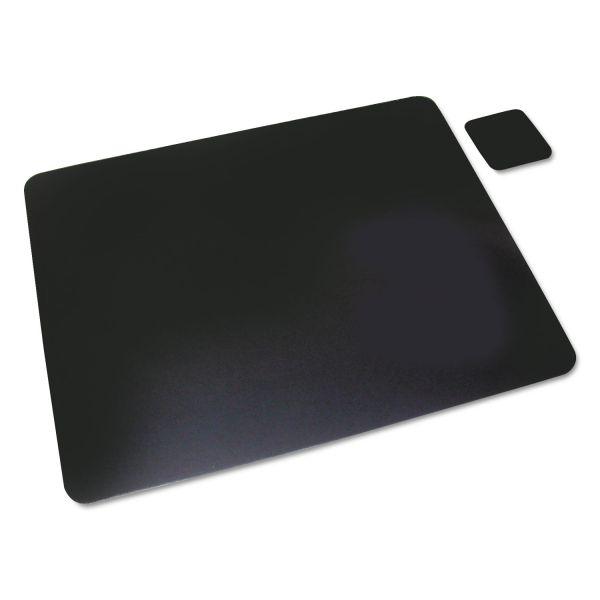 Artistic Leather Desk Pad w/Coaster, 20 x 36, Black