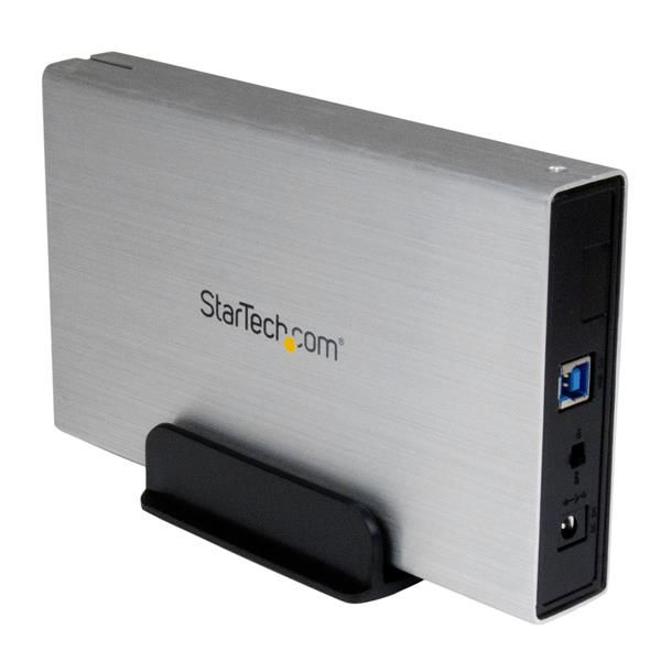 StarTech.com 3.5in Silver USB 3.0 External SATA III Hard Drive Enclosure with UASP - Portable External HDD