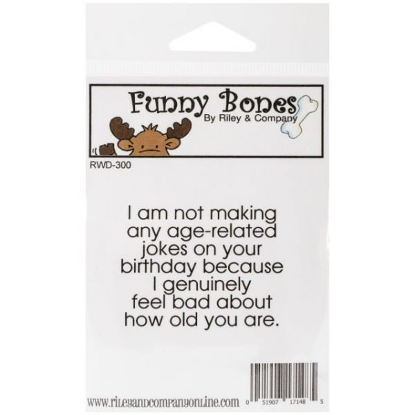 "Riley & Company Funny Bones Cling Mounted Stamp 2.25""X1.75"""