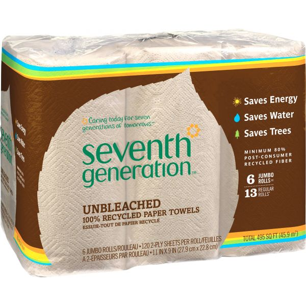 Seventh Generation Natural 100% Recycled Paper Towels