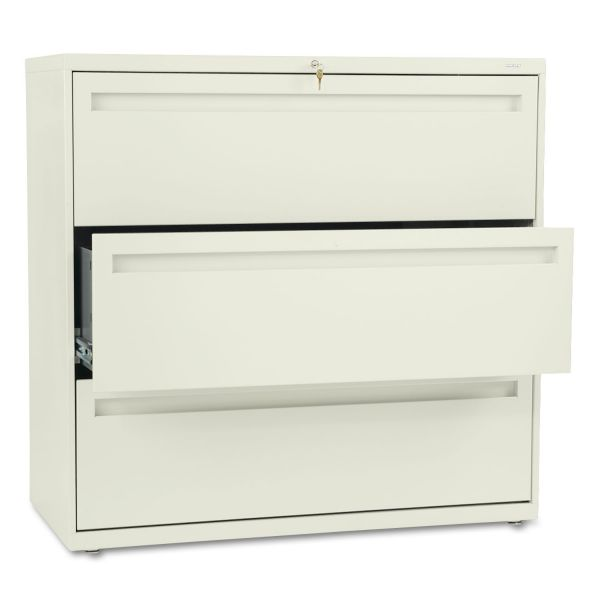 HON 700 Series Full-Pull 3 Drawer Locking Lateral File Cabinet