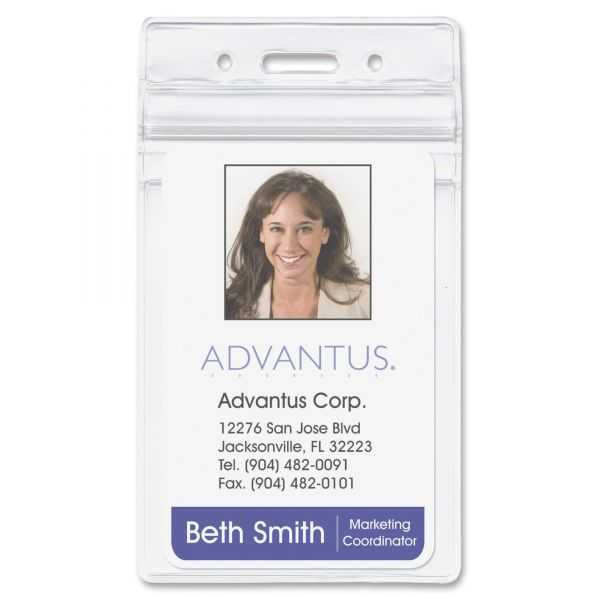 Advantus Resealable Vertical ID Badge Holders