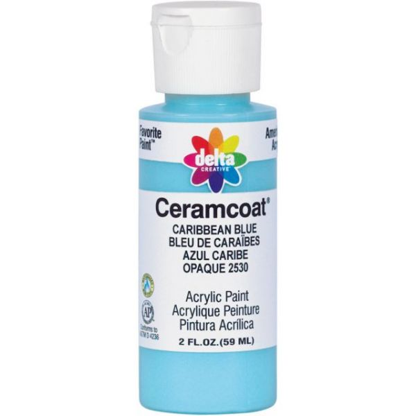 Ceramcoat Caribbean Blue Acrylic Paint