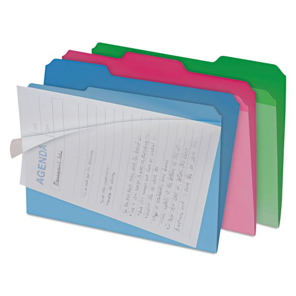find It Clear View Colored Interior File Folders