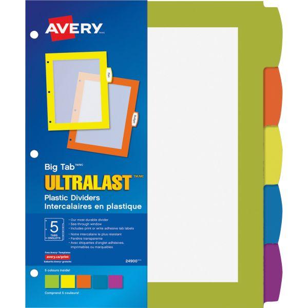 Avery Big Tab Ultralast Plastic Dividers