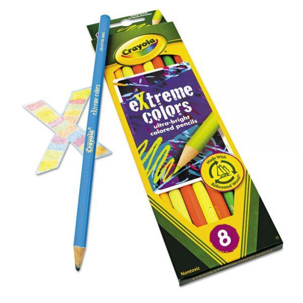 Crayola Extreme Colored Pencil Set, Assorted, 8/Set