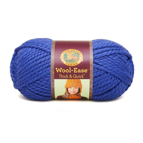 Lion Brand Wool-Ease Thick & Quick Yarn - Cobalt