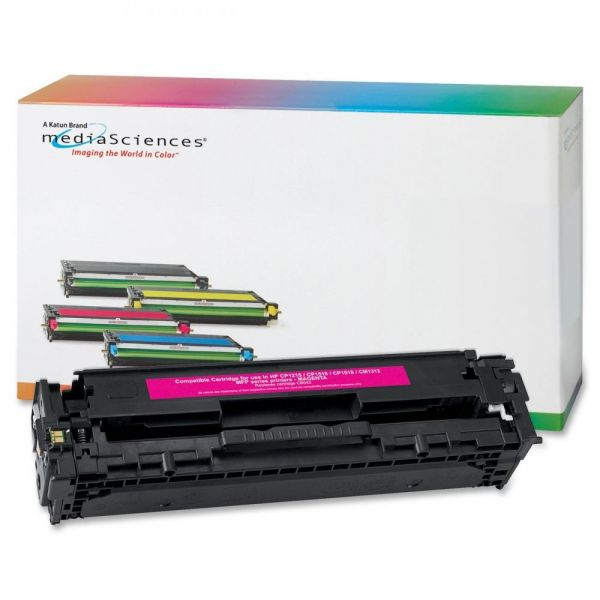 Media Sciences Remanufactured HP CB543A Magenta Toner Cartridge