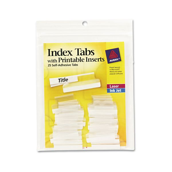 Avery Index Tabs with Printable Inserts