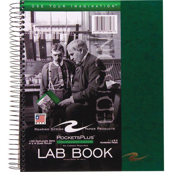 Roaring Spring Pockets Plus Wirebound Lab Book
