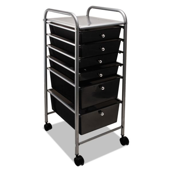 Advantus Portable Six-Drawer Organizer Cart
